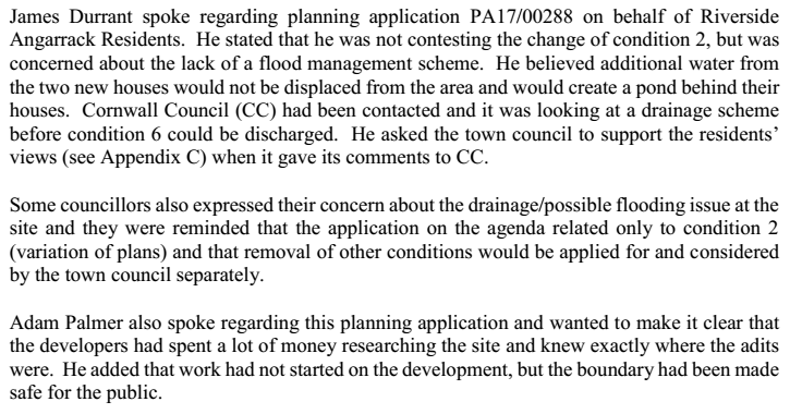 Consideration At Hayle Town Council Pa17 00288