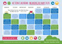 Action for Happiness Meaningful May Calendar