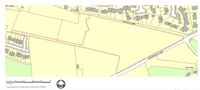 A map of the site in the planning documents
