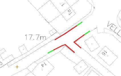 Back Lane - revised no waiting zones