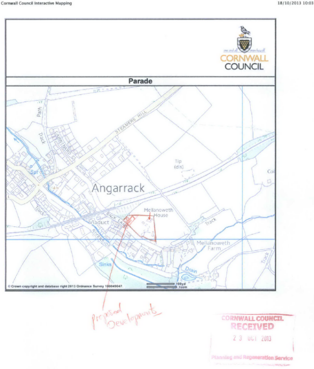 Location - Mellanoweth House 17 Back Lane Angarrack