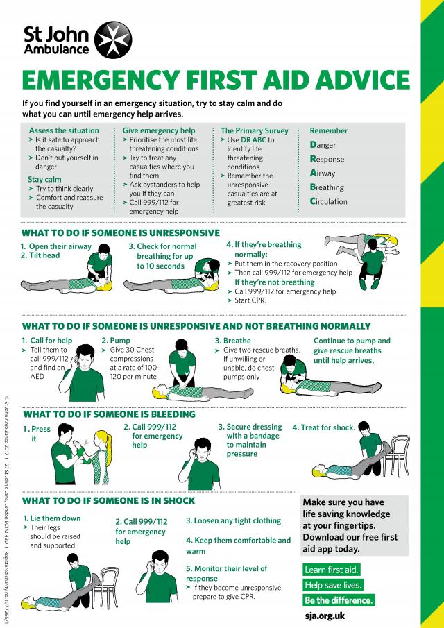 Emergency First Aid Advice via St John Ambulance