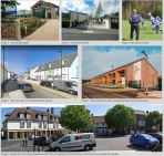 Image 3 : New health facilities Image 4 : New primary school Image 5 : New sports provision Image 6 : New main street and connected street network Image 7 : New employment space integrated positively into the townscape Image 8 :Example of a Local Centre/