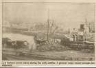 A harbour scene taken during the early 1900s