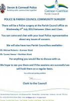 Gwinear Gwithian Police Surgery Meeting 4th July 2012